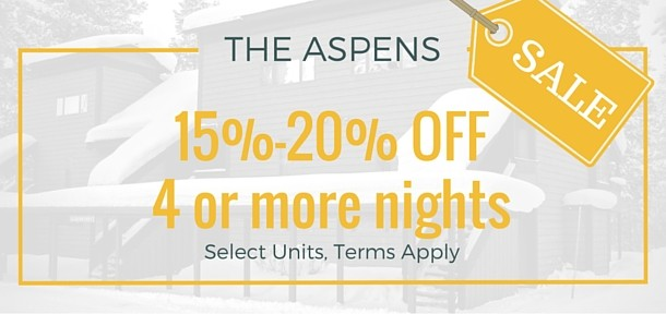 15% off 4 Nights in The Aspens